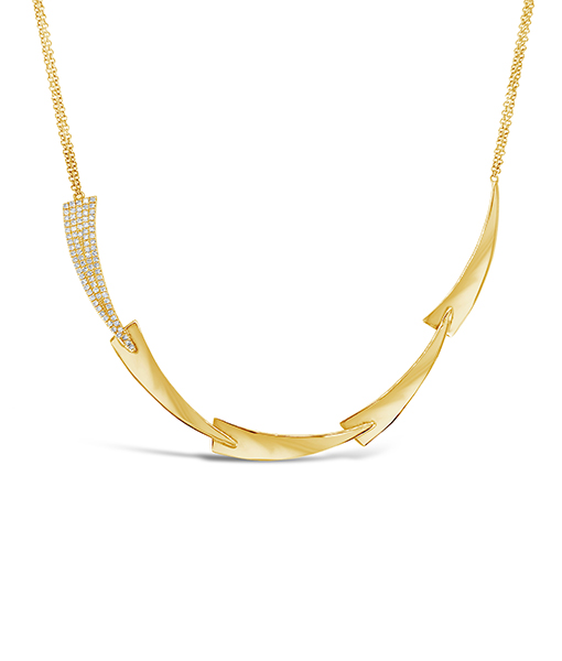 Diamond Gold Section Necklace