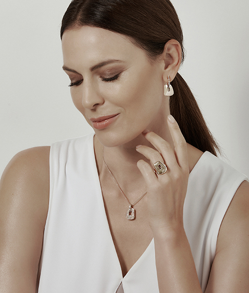 Mattioli Puzzle Earrings with Pendant and Ring