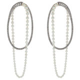 Mike Joseph Diamond Akoya Pearl Earrings