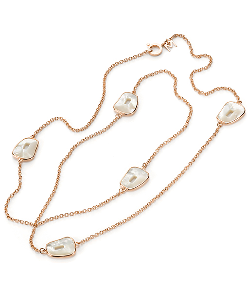Mattioli Puzzle Mother of Pearl Chanel Necklace