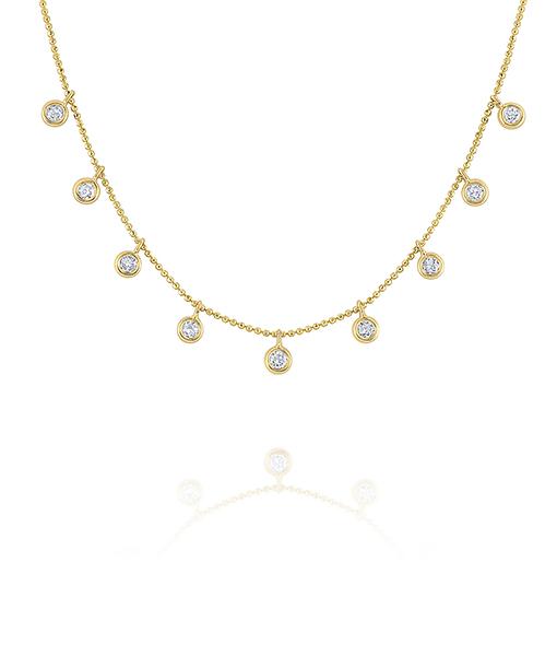 KC Diamond Dew Drop Necklace
