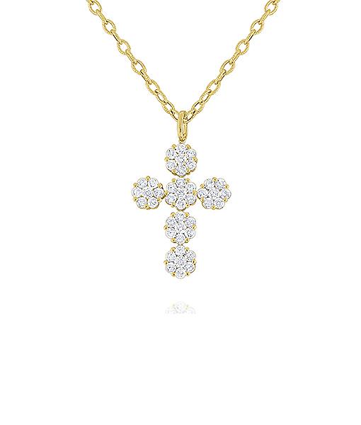 Kc Diamonds Cross Diamond Necklace