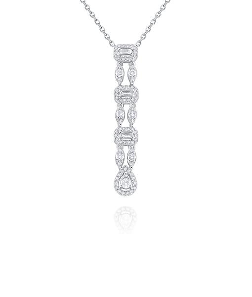 Kc Diamonds Antique Drop Diamond Necklace