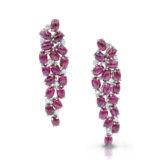 Oscar Heyman Ruby and Diamond Earrings