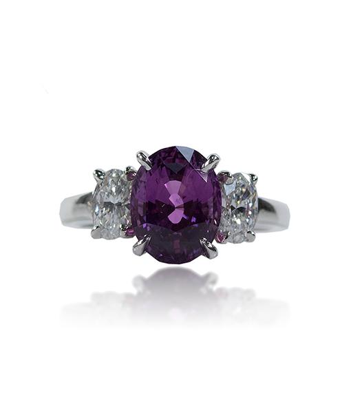 Oscar Heyman Purple Sapphire and Diamond Ring