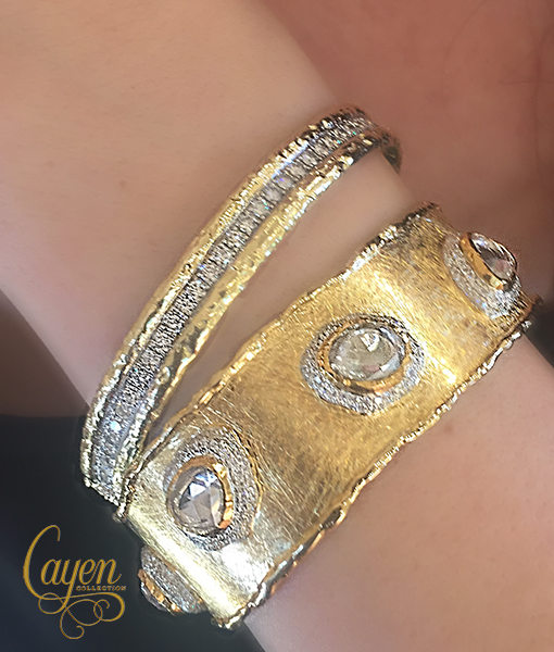 Victor Velyan White Sapphire and Diamond Bracelet SOLD!