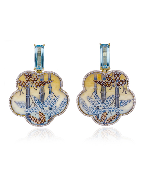 Silvia Furmanovich Hand Painted Flower Earrings