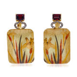 Silvia Furmanovich Orchid Marquetry Earrings