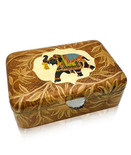 Silvia Furmanovich Elephant Marquetry Box
