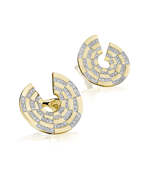 Siegelson Diamond Spiral Hoop Earrings