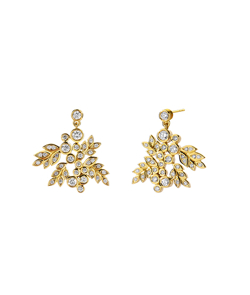 Syna Yellow Gold Mogul Grapevine Earrings