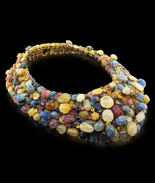 Tony Duquette Multi Sapphire Necklace