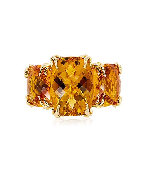 Tony Duquette Citrine Ring