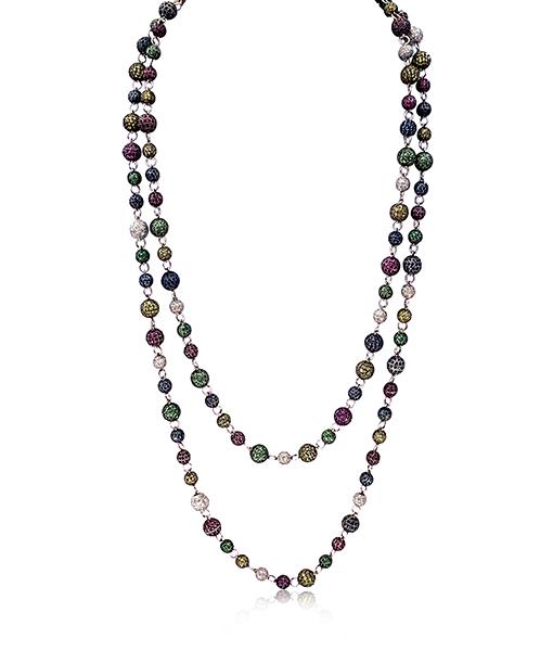 Multi Stone Bead Necklace