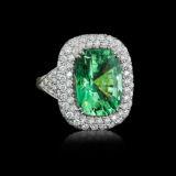 Cayen Collection Beryl and Diamond Ring