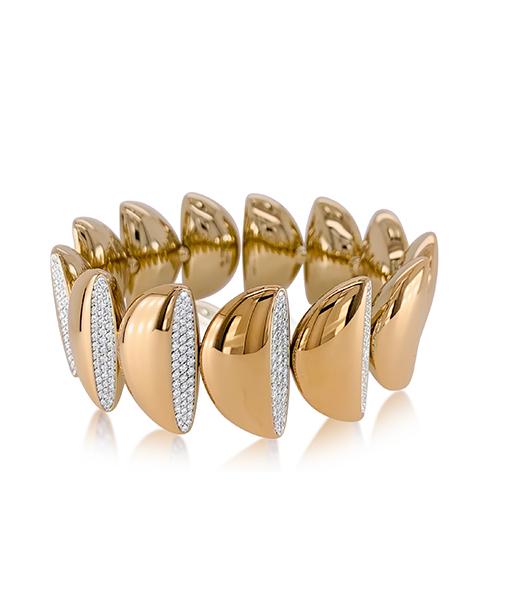 Vhernier Eclisse Gold and Diamond Bracelet