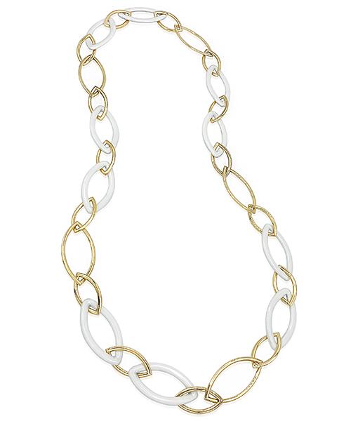 Vhernier Kogolon Leaf Link Necklace