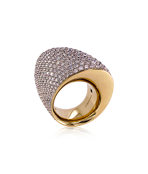 Vhernier Tonneau Dx Diamond Ring