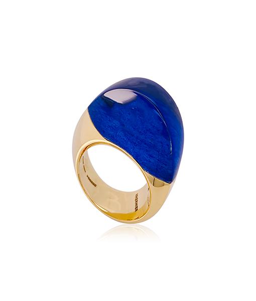 Vhernier Aladino Gold and Lapis Ring