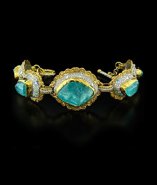 Victor Velyan Paraiba and Diamond Bracelet