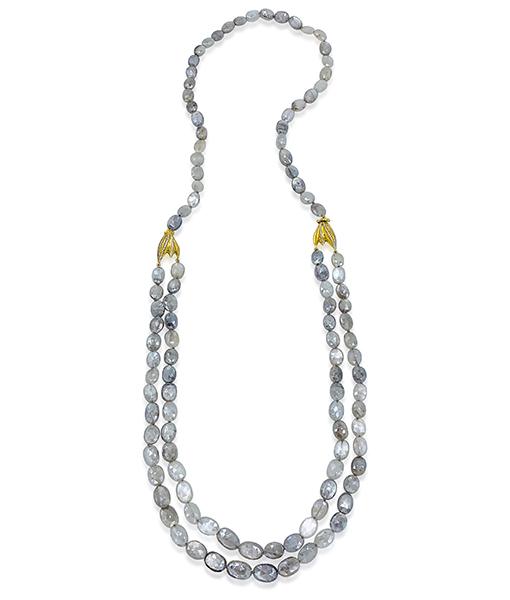 Victor Velyan Rose Moonstone Necklace