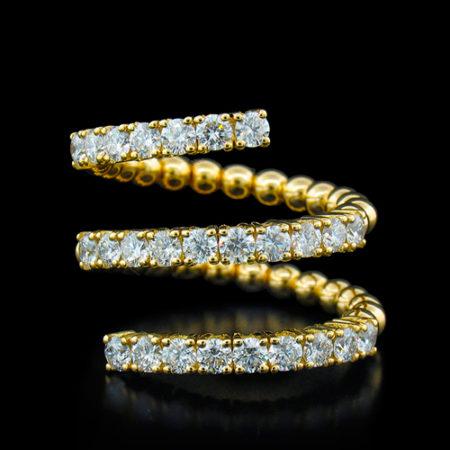 Zydo Flexible Coil Diamond Ring
