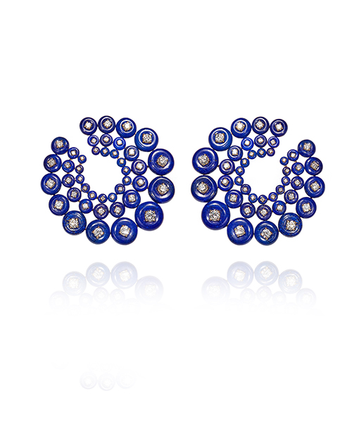 Fernando Jorge Lapis Lazuli and Diamond Galaxy Earrings