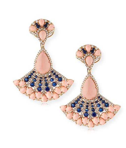 Andreoli Angelskin Coral Earrings