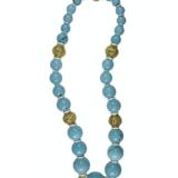David Webb Turquoise Bead Necklace