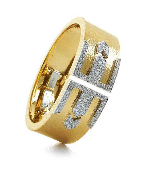 David Webb 57th Street Deco Riff Bracelet