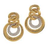 David Webb 57th Street Triple Hoop Earrings