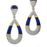 David Webb Colors Earrings