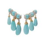 David Webb Cross River Garland Earrings
