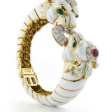 David Webb Twin Lion Bracelet