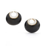 David Webb Manhattan Minimalism Crescent Earrings