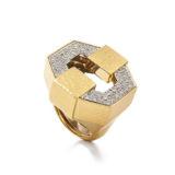 David Webb Manhattan Minimalism Buckle Ring