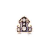Elie Top Blason Ring in Rose Cut Diamonds