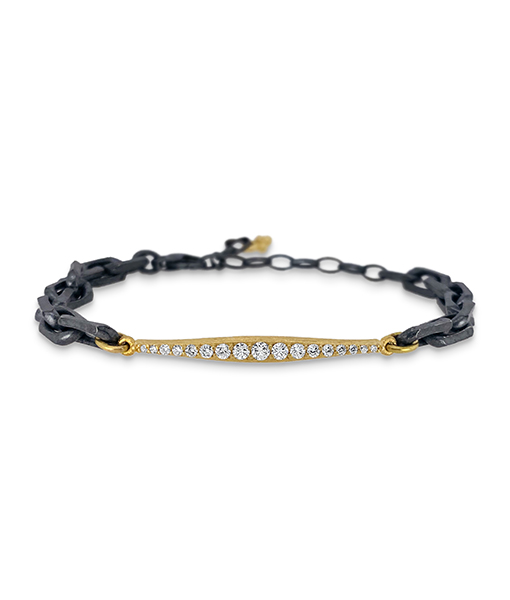 Erica Molinari Diamond Bar Chain Bracelet