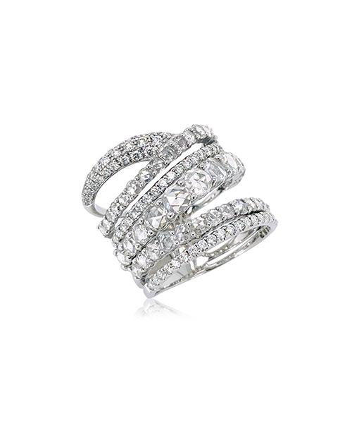 Etho Maria White Diamond Multi Band Ring