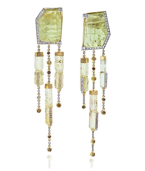 Jorge Adeler Beryl and Diamond Earrings