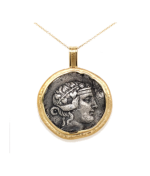 Jorge Adeler Dionysus Coin Pendant Hercules Reverse.