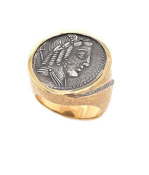Jorge Adeler Apollo Coin Diamond Ring
