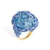 Lydia Courteille Sapphire and Aquamarine Ring