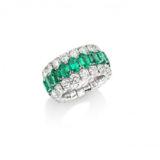 Picchiotti Xpandable Emerald and Diamond Ring
