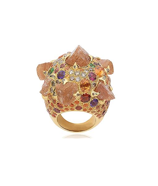 Sylvie Corbelin Yellow Ramadam Multi Gems Ring