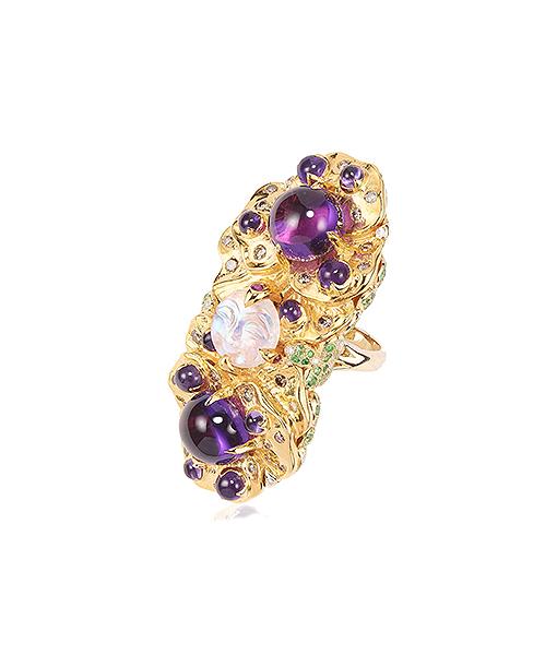 Sylvie Corbelin Double Pansy Ring