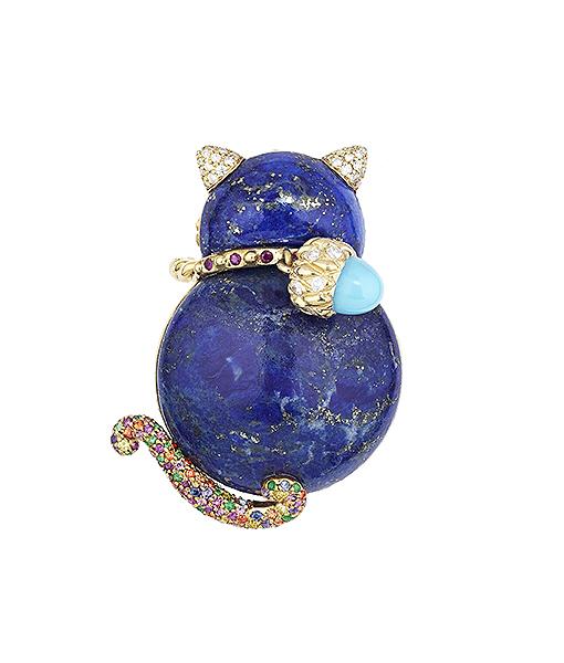 Sylvie Corbelin Petit Chat Bleu Lapis Ring