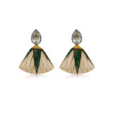 Silvia Furmanovich Green Marquetry Earrings with Prisiolite and Light Brown Diamonds