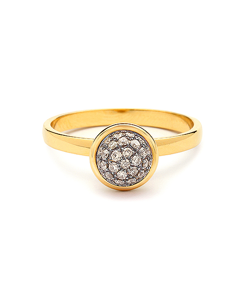 Syna Small Stacking Bauble Ring with Champagne Diamonds