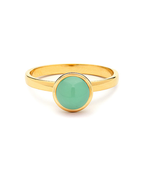 Syna Small Stacking Bauble Ring with Chrysoprase